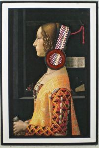 Earring for Giovanna; on postcard; image not to be reproduced without permission