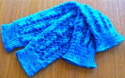 legwarmers, blue
