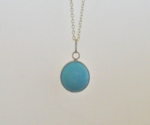 turquoise pendant; image not to be reproduced without permission