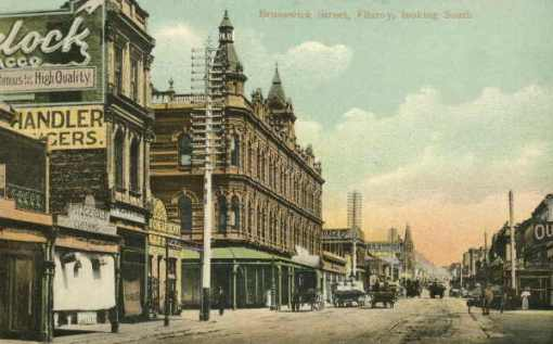 Brunswick Street Fitzroy, looking south; 1906; State Library of Victoria (out of copyright); click on image for source