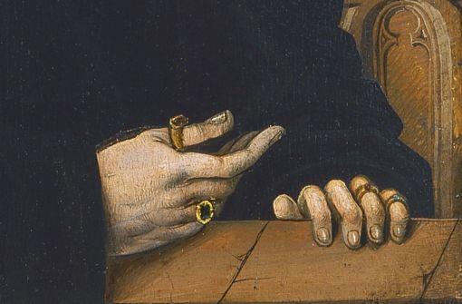detail of Portrait of Levinus Memminger; click on image for original artwork