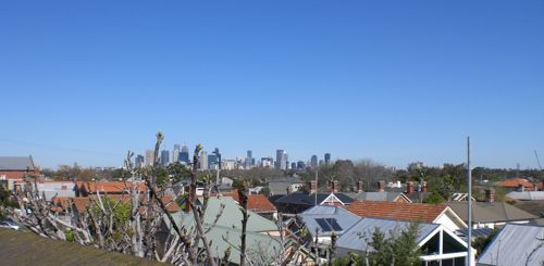 Melbourne city from Northcote