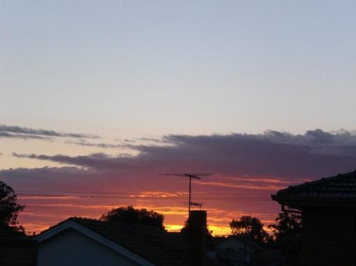 sunrise, 1st September