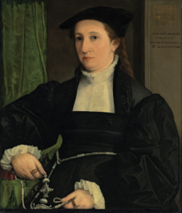 Portrait of Barbara Schwarz, 1542 Oil on panel, 74 x 61 cm; click on image for original source
