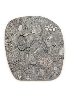 Iris Bodemer, Brooch Relief II, 2013, silver. Photo Iris Bodemer.