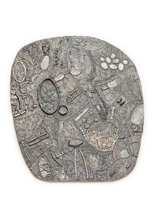 Iris Bodemer, Brooch Relief II, 2013, silver. Photo Iris Bodemer.