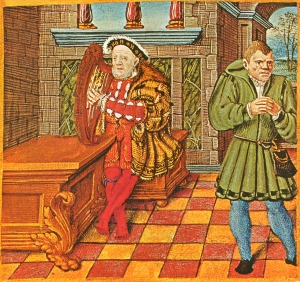 Henry VIII playing harp; click on image for original Wiki source