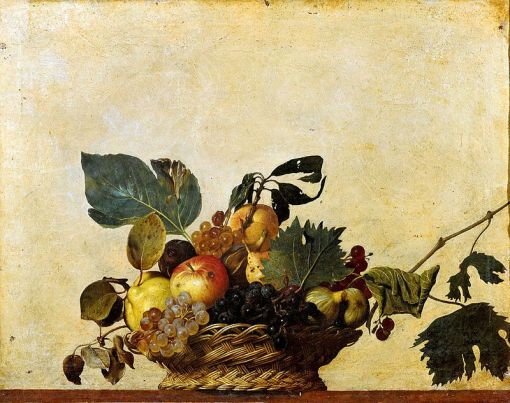 Caravaggio 'Canestra di frutta' (click on image for original source)
