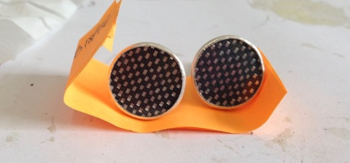 new cufflinks (with previous weave)