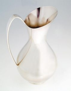 event media; Robert (Bob) K. Cranage, Jug 1962, Silver Plated Gilding Metal 256x132x132mm